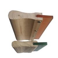 14″ Wood handle 70 Durometer Squeegee blade – 4 pc