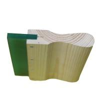 6″ Wood 60 durometer wooden handle squeegee blade -4PC