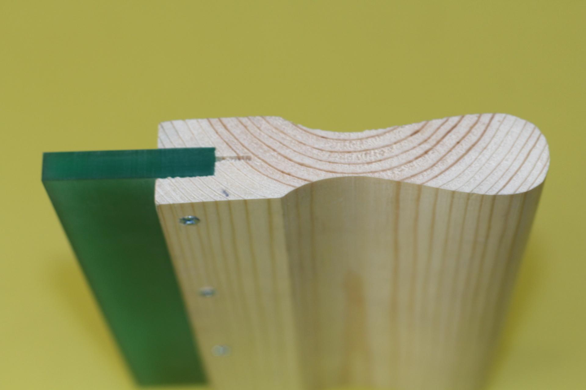 16″ 60 durometer wooden handle squeegee blade -2PC
