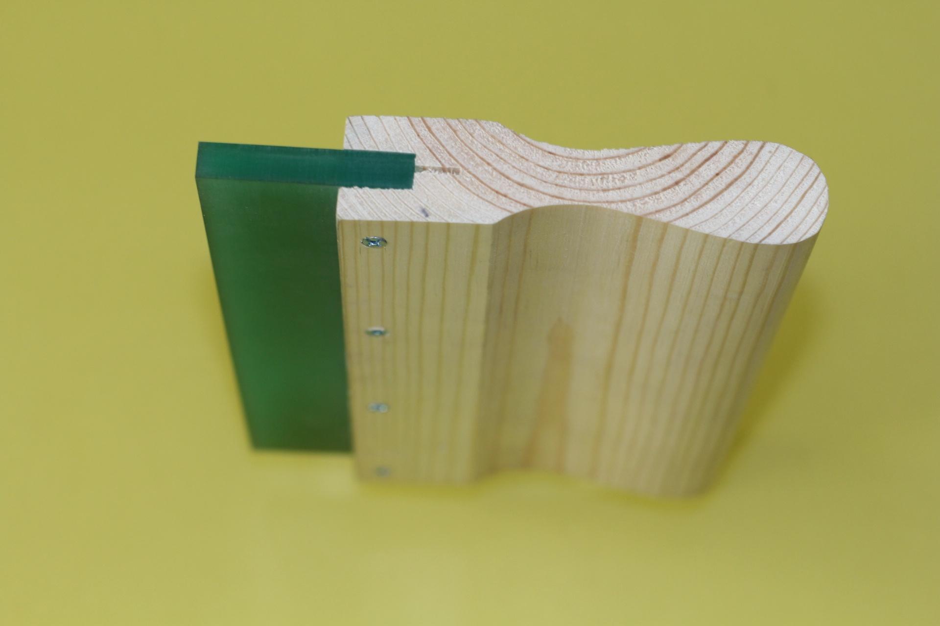 6″ Wood 70 durometer wooden handle squeegee blade -4PC