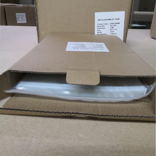 11″x 17″inkjet clear film- 50 sheets/bag